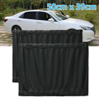 New 2 X Luxury Black VIP Car Van SUV Window Curtain UV Sunshade Visor Universal
