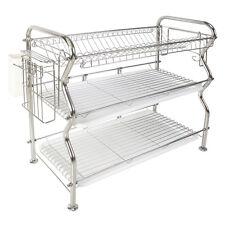 NEX 3-Tier Stainless Steel Dish Rack Over-the-Sink Kitchen Dish DrainerRack(304)