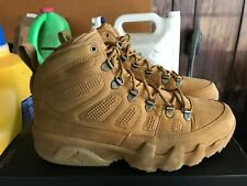 NEW Nike AIR JORDAN 9 RETRO BOOT NRG WHEAT GUM AR4491 700 FLAX Size 9 dbbf7f2d7