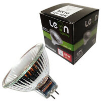 10 x MR16 50w Leonlighting Halogen Lamps 12v AC DC 50mm Diameter 38° Beam Angle