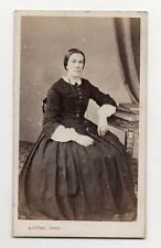 PHOTO - CDV - Femme Coiffure Chaise - A. DUVAL à CAEN - Vers 1870 Albumen Print