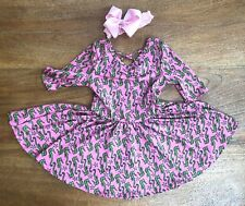 Nwt Dot Dot Smile Ballerina Seahorse Pink Dress 3/4 sleeve Toddler *2T
