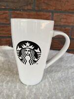 2014 Starbucks Mug White Black 18 Ounce Large Ceramic Cup Dishwasher Microwave