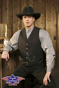 Weste Earp, Old Style, Country, Stars & Stripes, 1a-Qualität, Gr. L, neu
