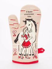 Blue Q Funny Novelty Oven Mitt, I Hate Everyone Too, Brown/Red, New