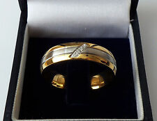 Crystal Stainless Steel Band Rings for Men