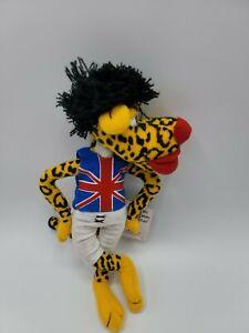 Vintage 1998 Infamous Meanies Mick Jagger Rock Singer Jaguar bean bag Plush