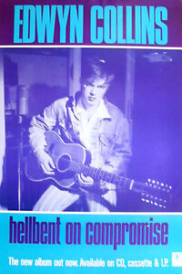 Edwin Collins - Hell Bent on Compromise. Original 1980 Promo Poster. EXC.
