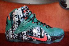3faaf98884c WORN 1X Nike Lebron XII 12 Akron Birch Xmas Emerald Green Hyper Punch Size  11.5