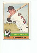 CHRIS SPEIER Autographed Signed 1976 Topps card San Francisco Giants COA