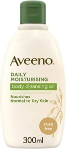 NEW Aveeno Daily Moisturising Body Cleansing Oil 300ml - Normal to Dry Skin