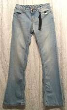 New Distressed LOW Rise FLARE Leg Light Dirt Wash YOM YOM Jeans! 7 (28)