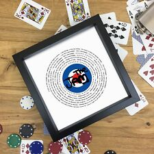 More details for the who fan gift vinyl record print or fully framed 7 or 12 inch any song
