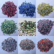Iron On Rhinestones Hotfix Stones White Clear AB FlatBack Crystals For Clothes