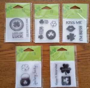 STUDIO G CLEAR STAMP SET - ST. PATTY'S DAY - IRISH - LUCKY - KISS ME - LUCK