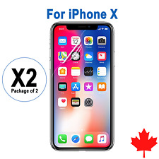 2x Ultra Clear Screen Protectors For iPhone X