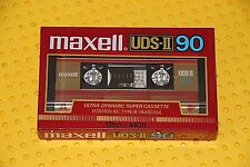 MAXELL UDS  II  90            BLANK CASSETTE  TAPE  (1)  (SEALED )