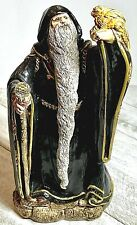 """1986 Windstone Editions Pena 7"""" Black Wizard With Crystal Staff/Dragon(retired)"""