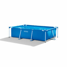 "Intex 86"" x 59"" x 23"" Rectangular Above Ground Frame Swimming Pool"