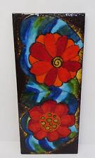 mid century design Dekorative Ruscha Keramik Wandfliese Florales Motiv 768 ~60er