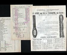 """MARSEILLE (13) ALIMENTATION & TEXTILES """"RIPERT & TSCHANTRE"""" TARIFS en 1920"""