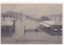 CPA PARIS crue de la Seine Janvier 1910 porte de Bercy animé Edit ND