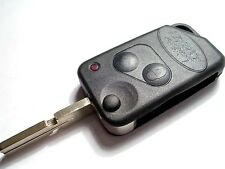NEW 2 BUTTON UNCUT FLIP REMOTE KEY FOB CASE for LAND/RANGE ROVER P38