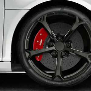 Front and Rear Red MGP Caliper Covers for 2020-2021 Kia Soul