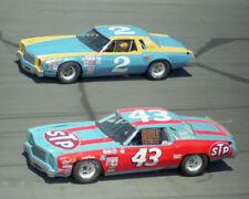 RICHARD PETTY & DALE EARNHARDT SR RACING ON TRACK 1975 8X10 GLOSSY PHOTO #54Q