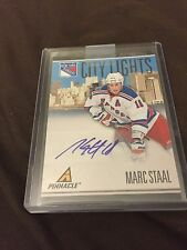 MARC STAAL 2010-11 Pinnacle CITY LIGHTS AUTOGRAPH #93 AUTO #d 087/100