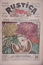 REVUE RUSTICA N° 44 2 NOVEMBRE 1930 CHRYSANTHEMES FLEURS DE TOUSSAINT