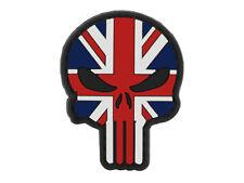 Union Jack skull PVC morale patch  British Flag Morale Tactical punisher