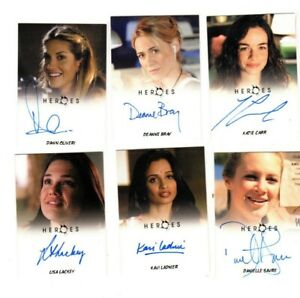 HEROES 6  Rittenhouse AUTOGRAPH CARDS