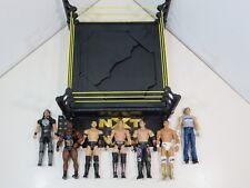 "WWE Mattel 6"" Action Figures Lot w/ NXT Superstar Breakable Ring"