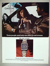 Omega Watch PRINT AD - 1980 ~ wristwatch
