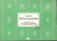 """Rudolf Barthel: """" Kleine Tanzstücke """" für Blockflöten"""