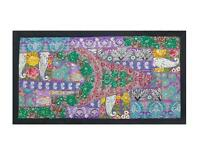 WALL HANGING VINTAGE BOHEMIAN RUNNER  EMBROIDERED PATCHWORK TAPESTRY TE90