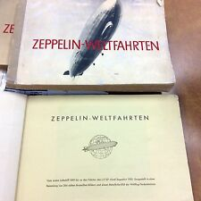 {BJ Stamps} 1933 Graf Zeppelin-Weltfahrten book with 265 photos Cigarette cards