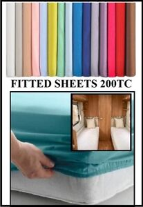"""CARAVAN / MOTOR HOME FITTED SHEETS 73"""" or 74"""" x Various Widths"""