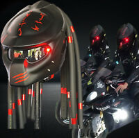 Black Jack Skull Man 3D Motorcycle Helmet Skeleton Airbrushed NOVELTY Custom