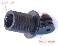 "GoPro Tripod Monopod Microphone stand Mount Hero 4 3 2 1  5/8""-27 to gopro mount"
