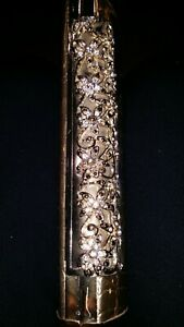 LADIES CLUTCH PURSE WITH DIAMONTES AND FAUX LEATHER SHOULDER STRAP ATTACHED