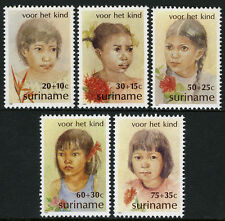 Surinam B284-B288, Mnh.Child welfare.Indian,Black,Hind ustani,Javanese Girls,1981
