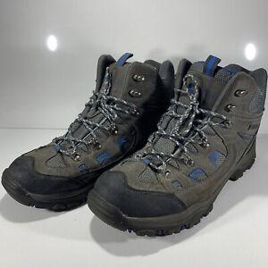 Mountain Essentials Men's Adventurer Waterproof Boots Grey Black Blue Size UK 9