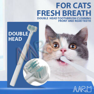 【 Gum Health Care】Dog Cat Double-Head Toothbrush Brush Pet Dental Teeth Cleaning