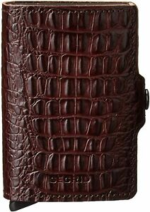 Secrid Twin Wallet Leather With Rfid Safe Card Case (Nile Brown) - Used
