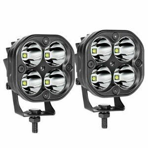 2X 3inch Cree LED Work Light Bar Spot Pods Fog Lamp Offroad Driving Truck 4WD US