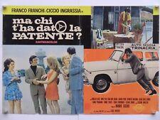 MA CHI T'HA DATO LA PATENTE commedia N.Cicero Franchi e Ingrassia fotobusta 1970