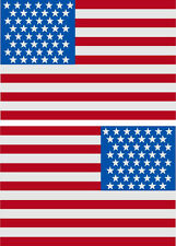"""5"""" American Flag 3M REFLECTIVE Stickers (x2)  Decal  USA  Police Fire Emergency"""