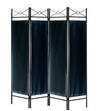 4, 6, 8 Panels Metal Room Divider Screen Black, White, Brown, Red Woven Insert